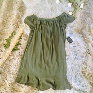 EXPRESS Olive Baby Doll Dress